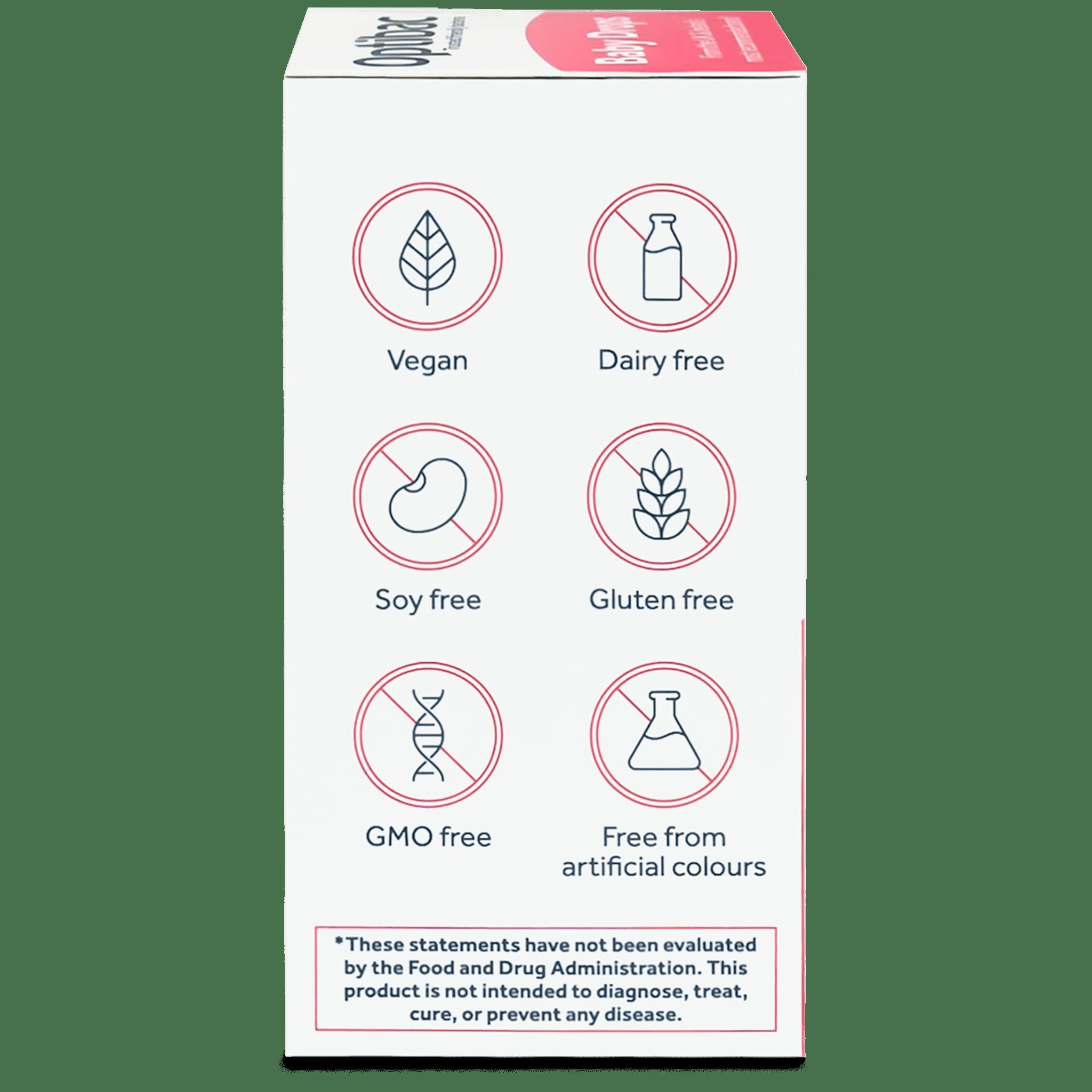 Optibac Probiotics | Baby Drops | side of pack | 30 servings