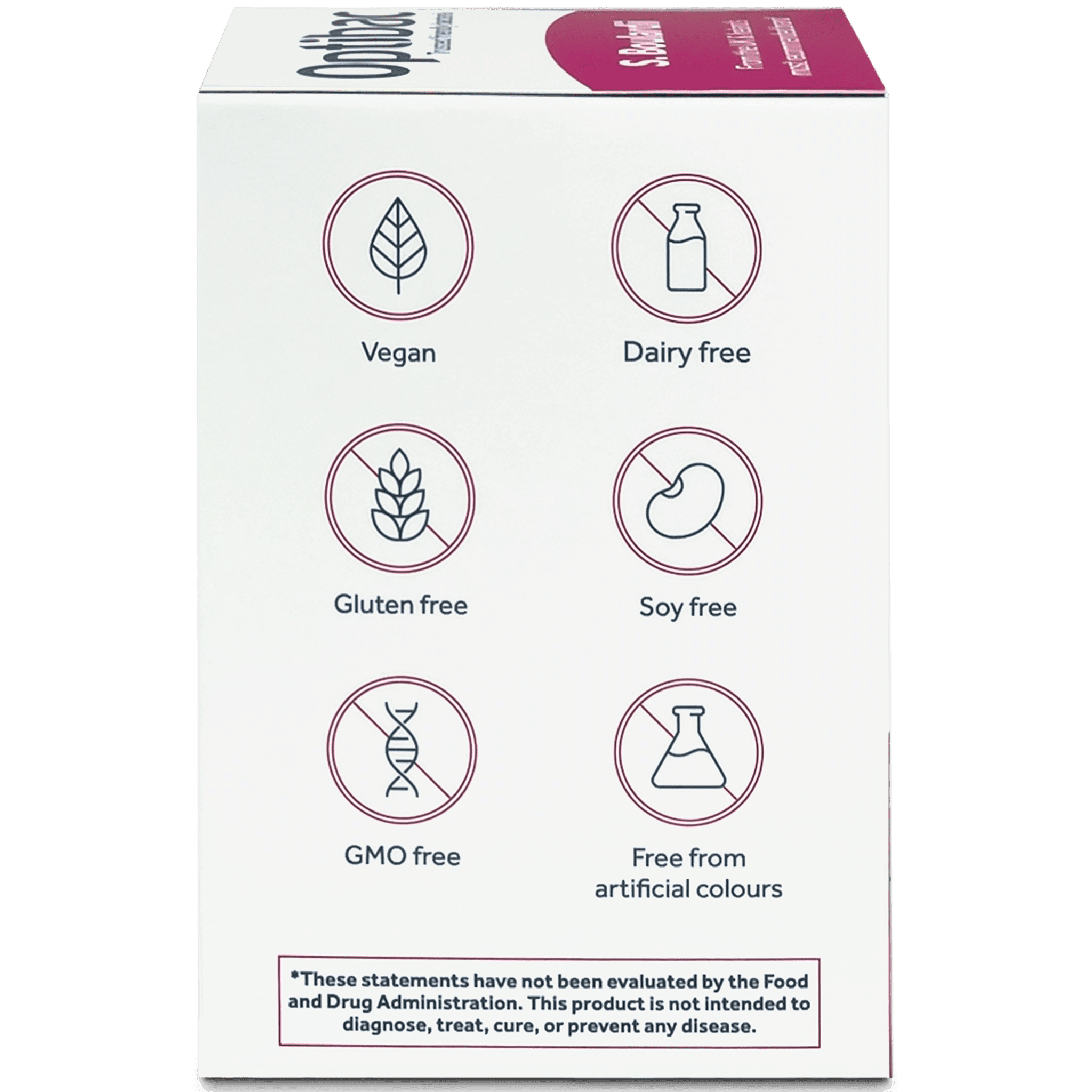 Optibac Probiotics Saccharomyces boulardii (40 capsules) pack side shot