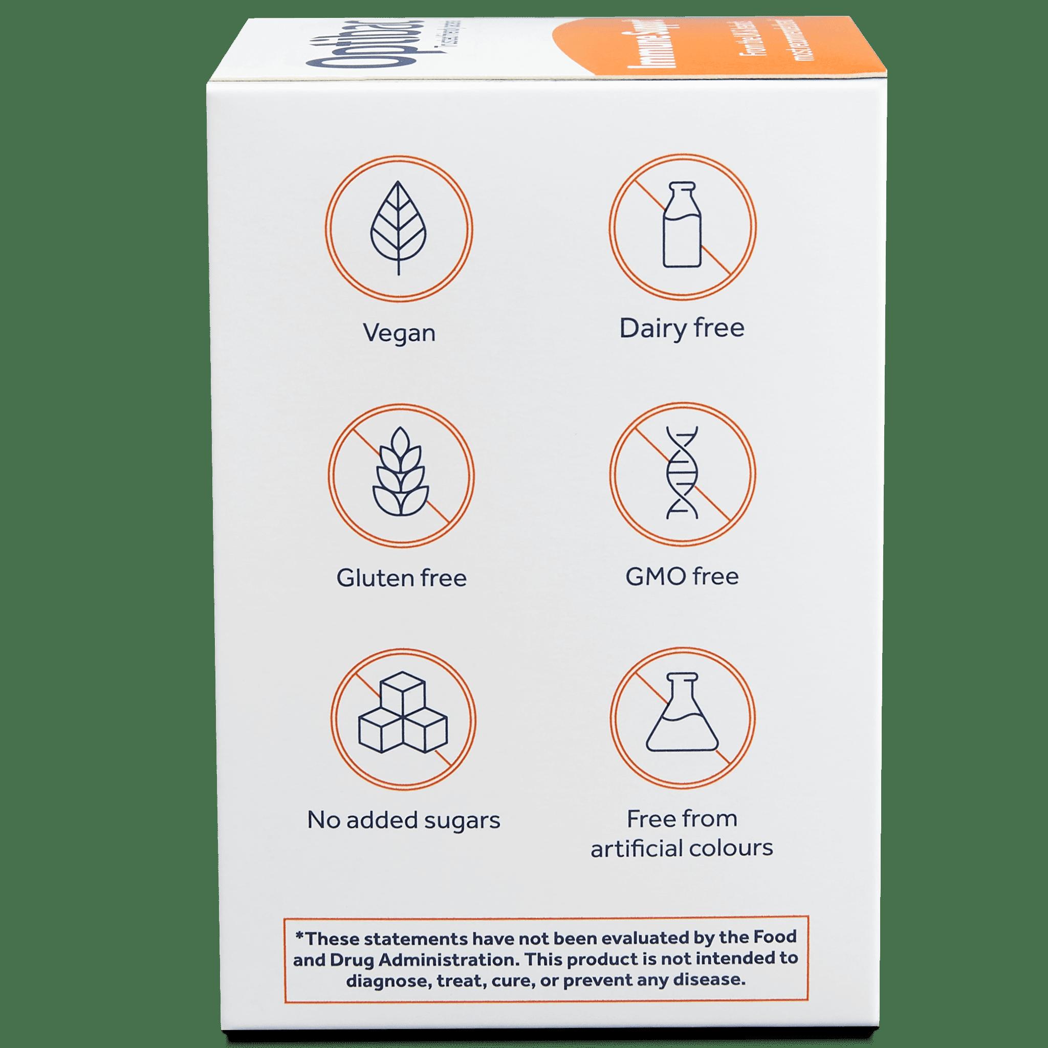 Optibac Probiotics | Immune Support | side of pack | 30 capsules