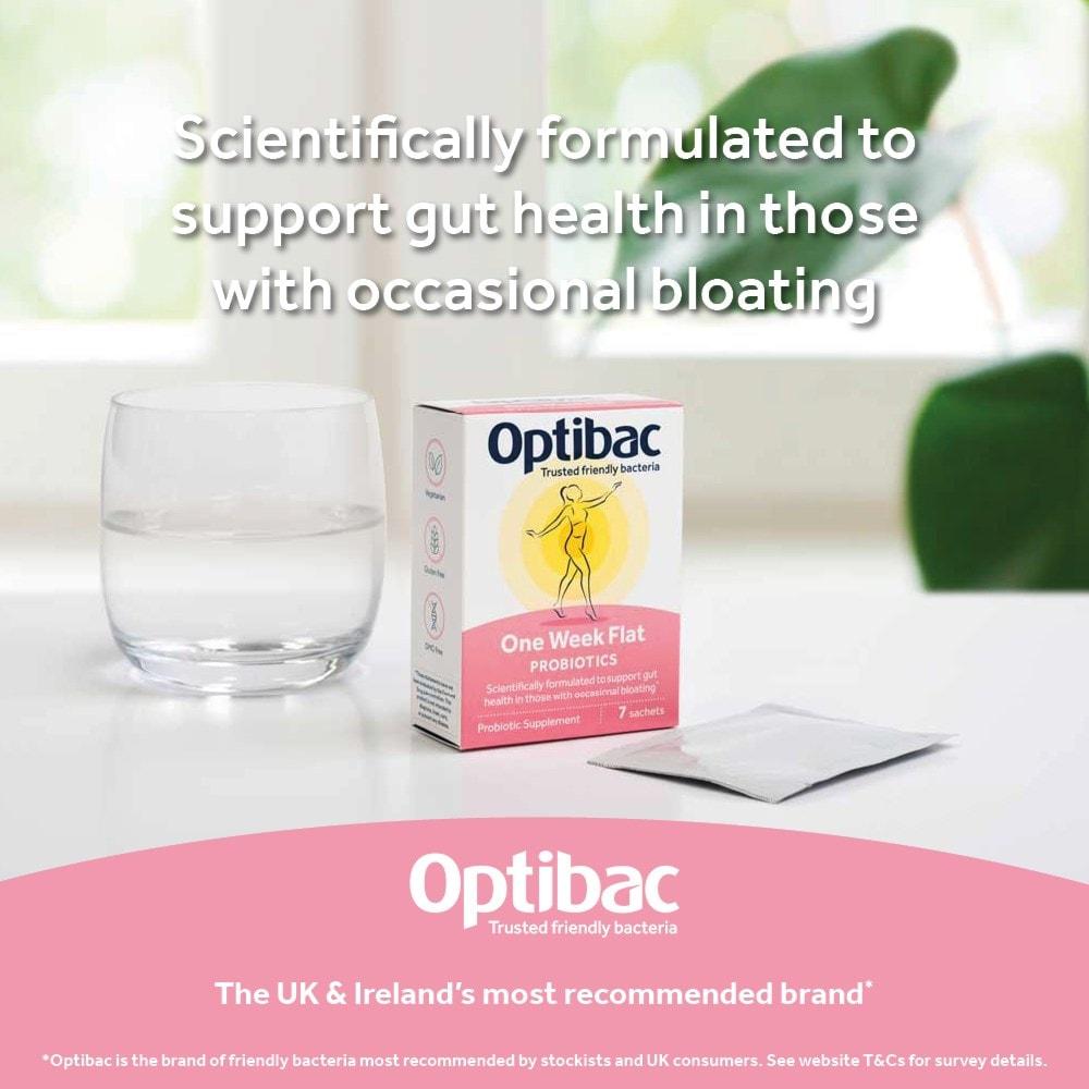 Award winning Optibac Probiotics One Week Flat