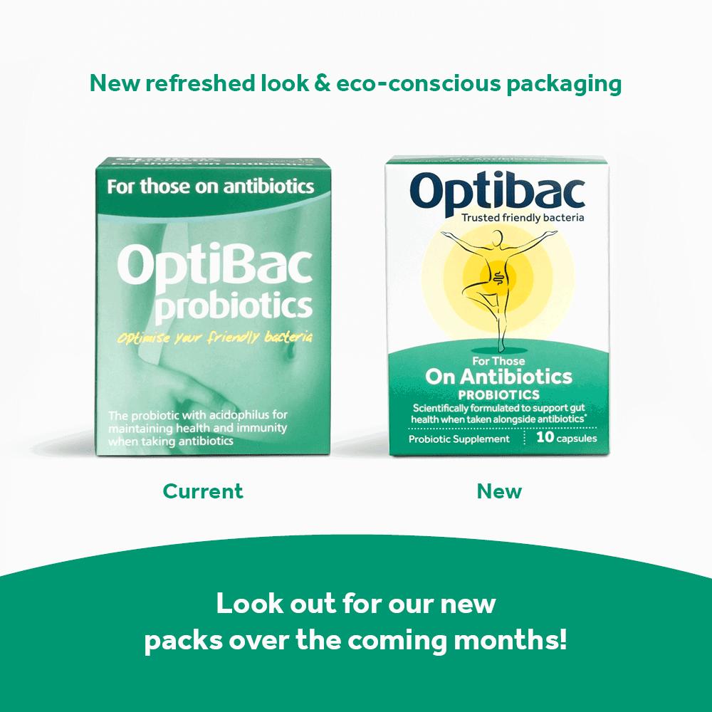 Optibac Probiotics For Those On Antibiotics developed to take with antibiotics