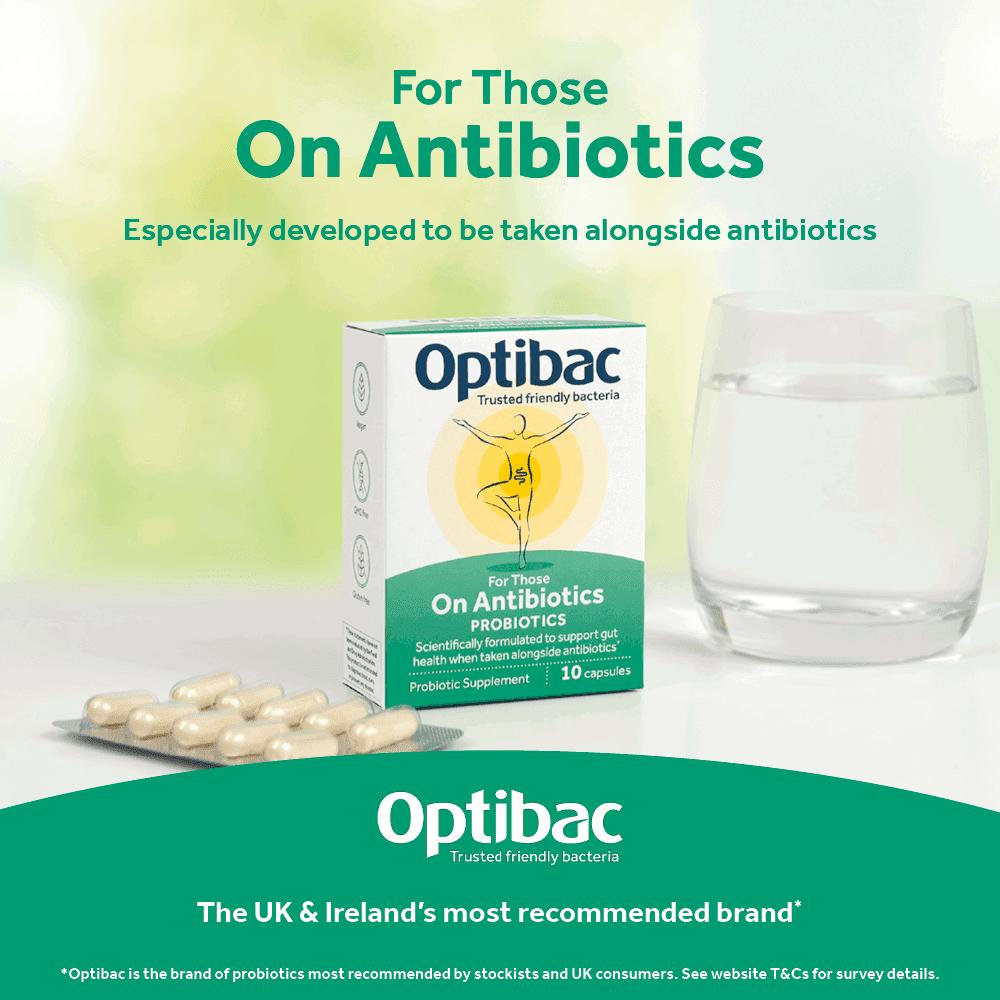 Optibac Probiotics For Those On Antibiotics to be taken with antibiotics