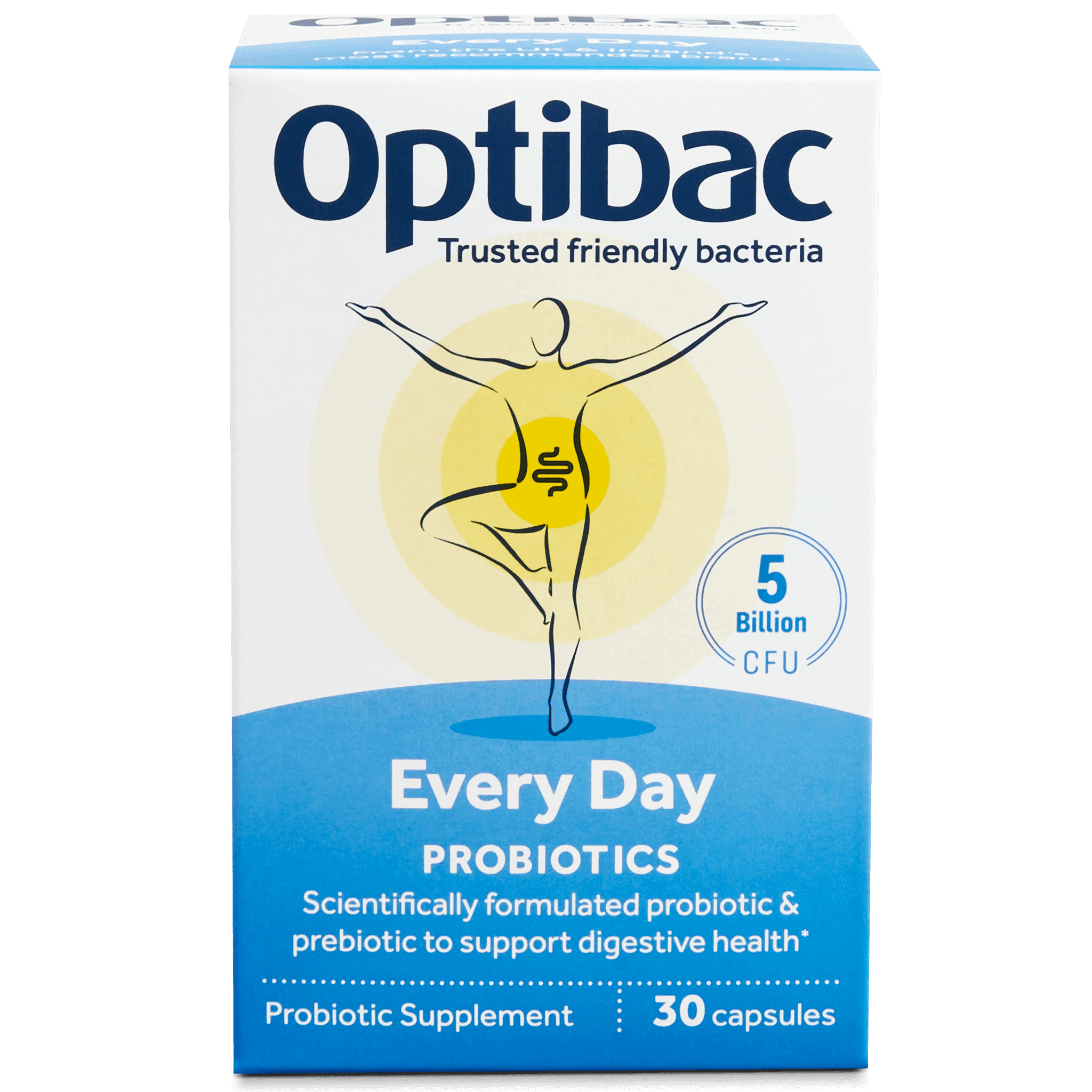 Optibac Probiotics | Every Day | front of pack | 30 capsules
