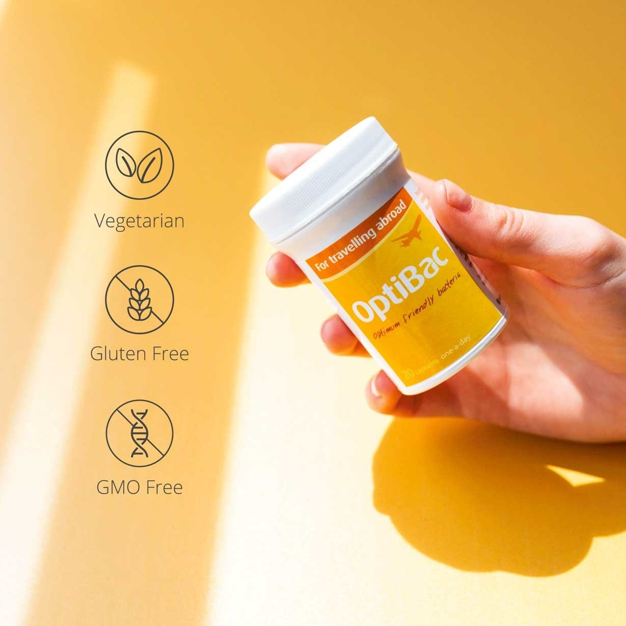 Optibac Probiotics For travelling abroad dietary information