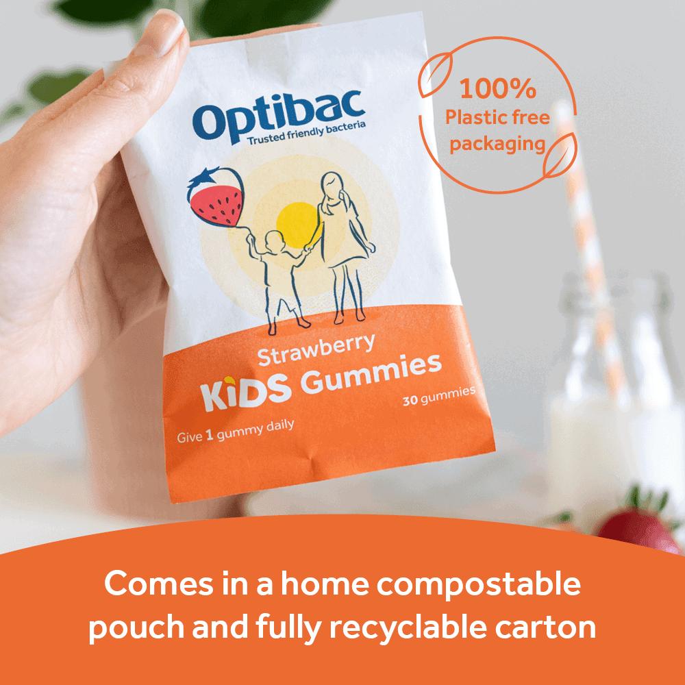 Optibac Probiotics Kids Gummies - compostable pouch