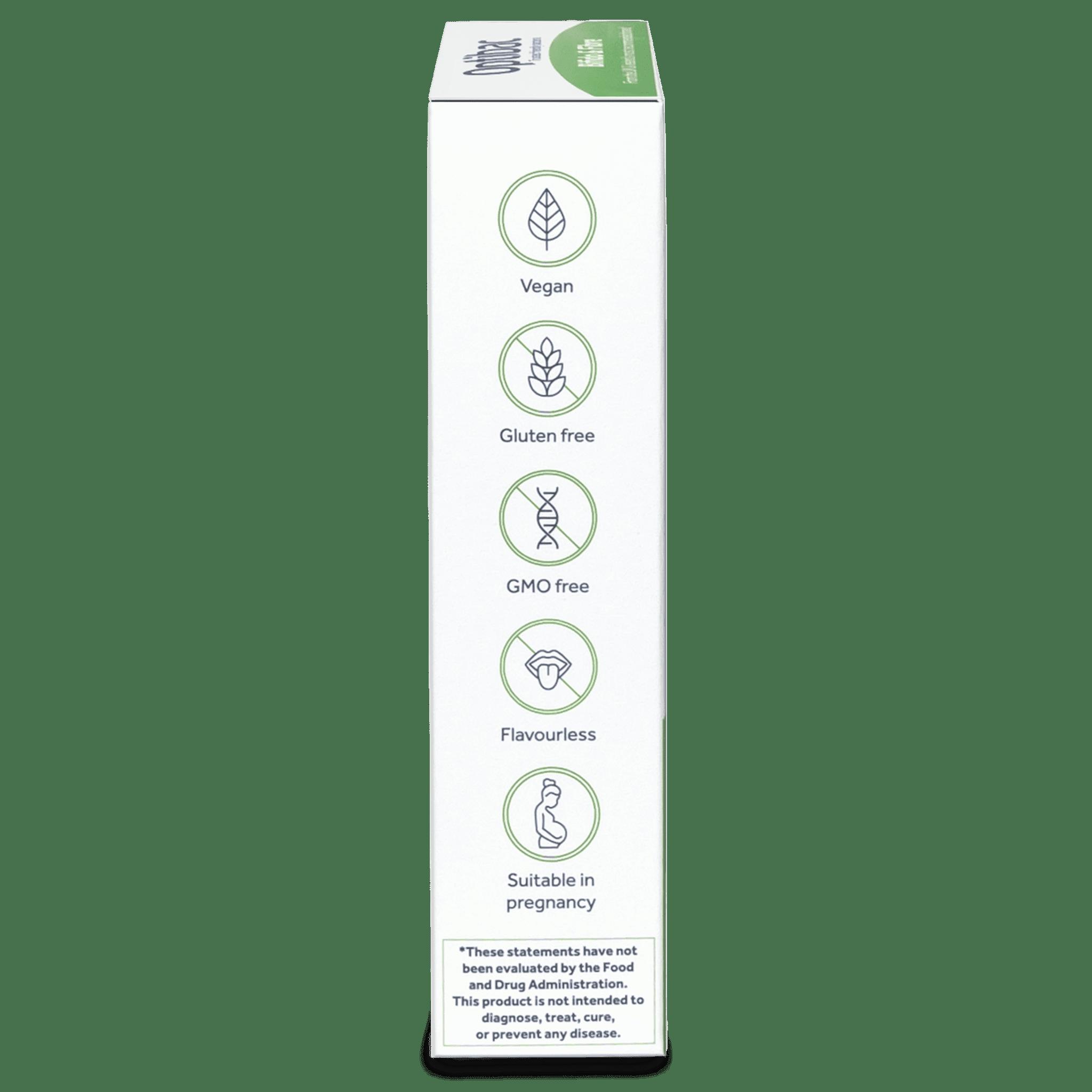 Optibac Probiotics Bifido & Fibre (10 sachets) pack side shot