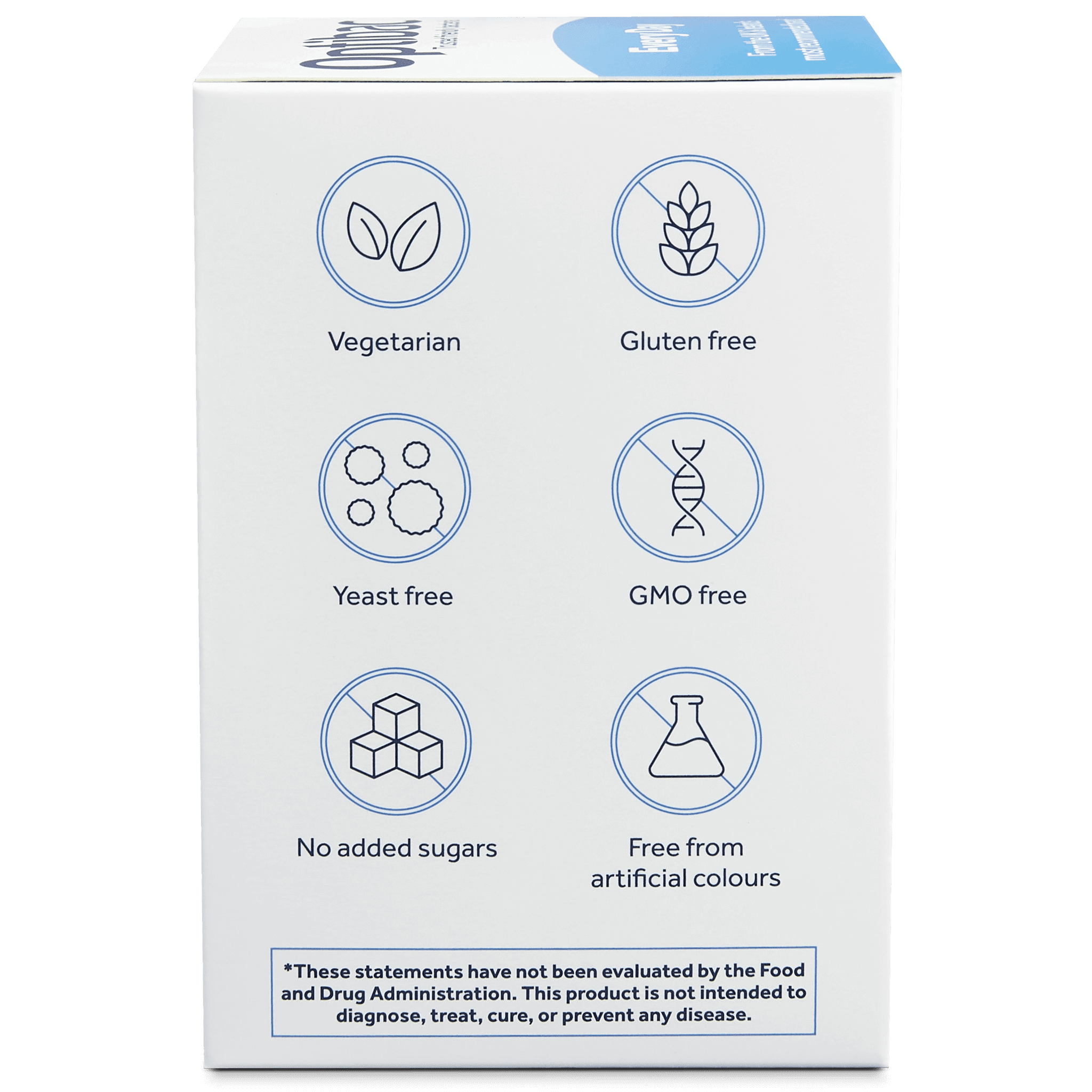 Optibac Probiotics | Every Day | side of pack | 30 capsules