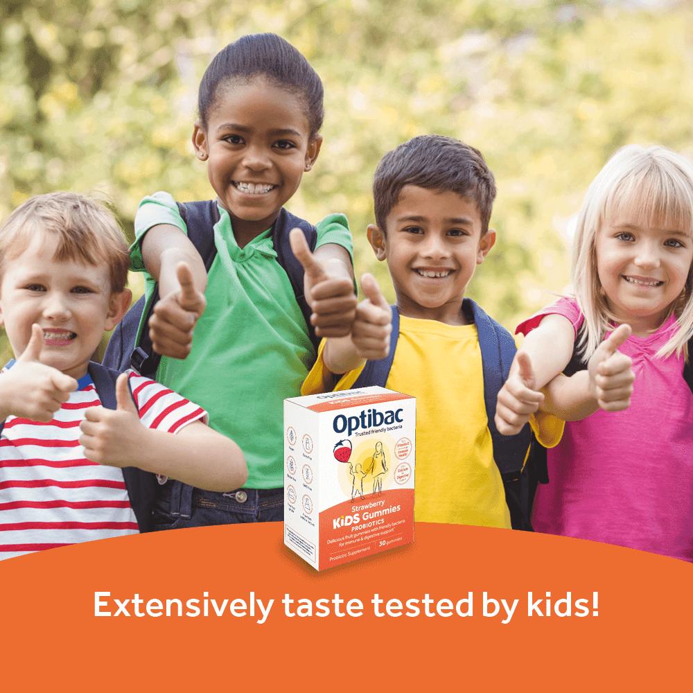 Optibac Probiotics Kids Gummies - tasted by kids