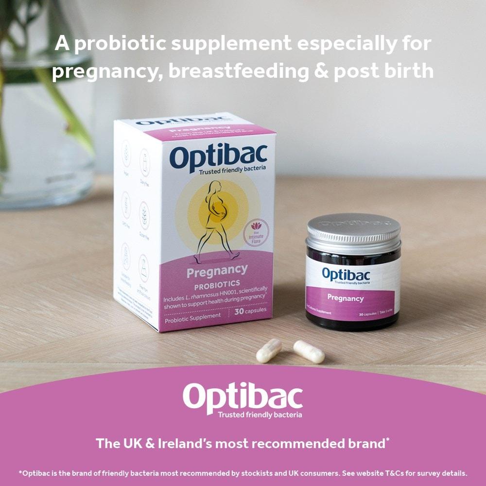 Optibac Probiotics Pregnancy in recyclable packaging