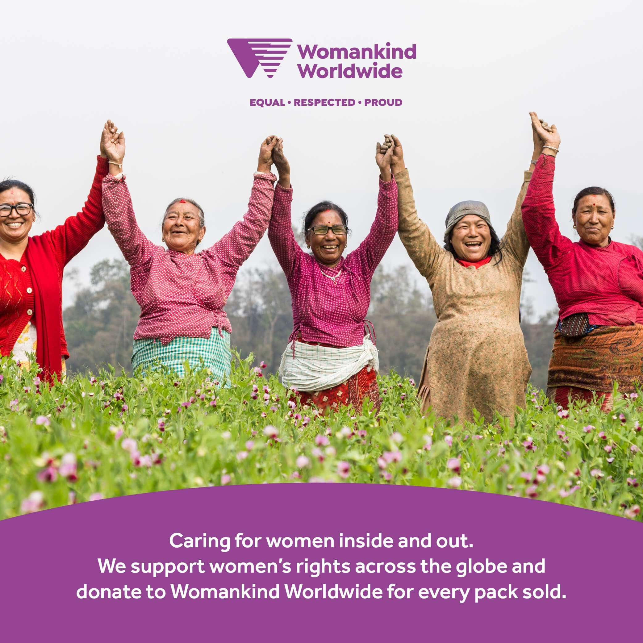 Optibac Probiotics For Women supporting Womankind charity