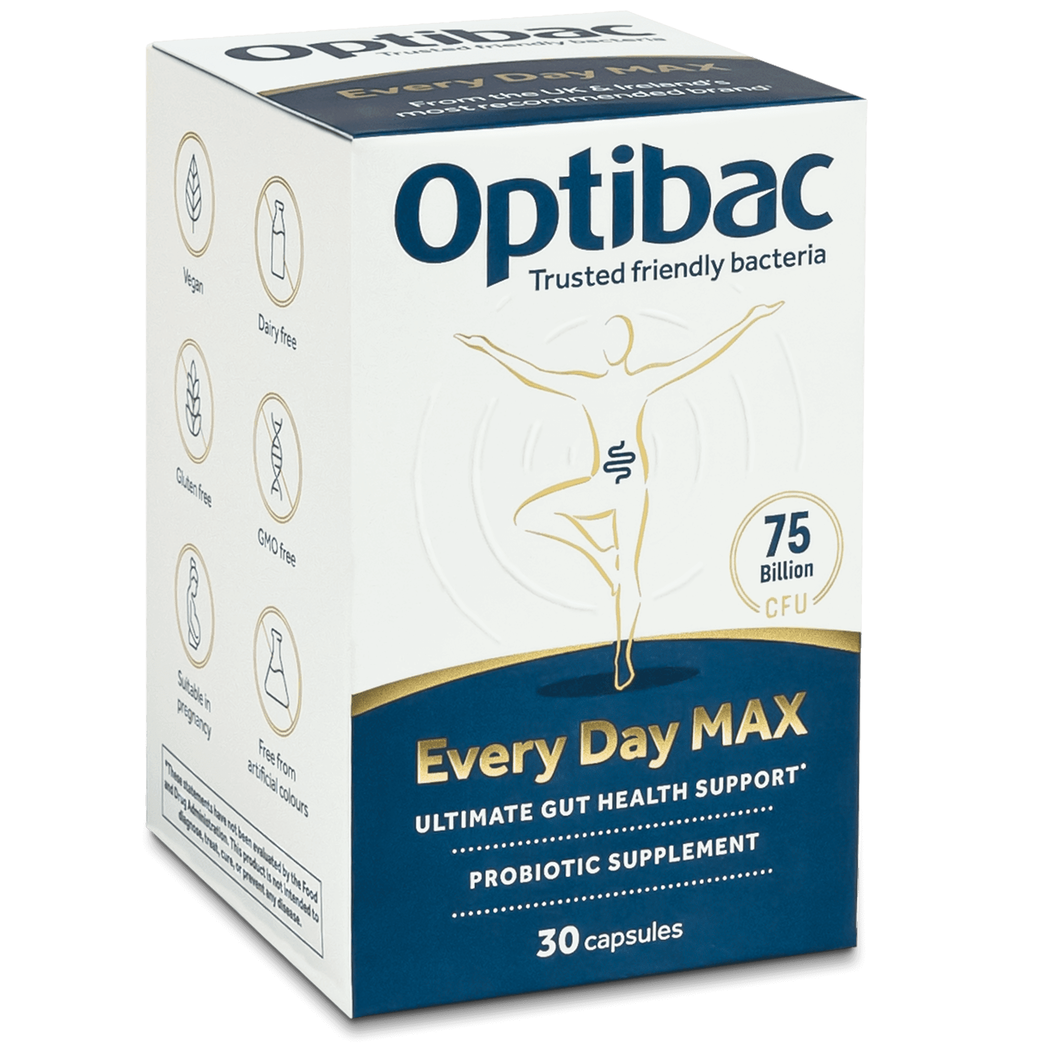 Optibac Probiotics | Every Day MAX | angled pack | 30 capsules