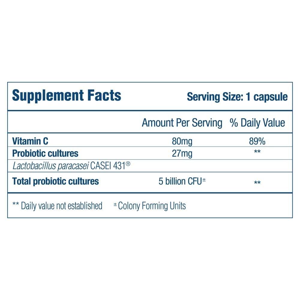 Optibac Probiotics Immune Support - Supplement fact panel