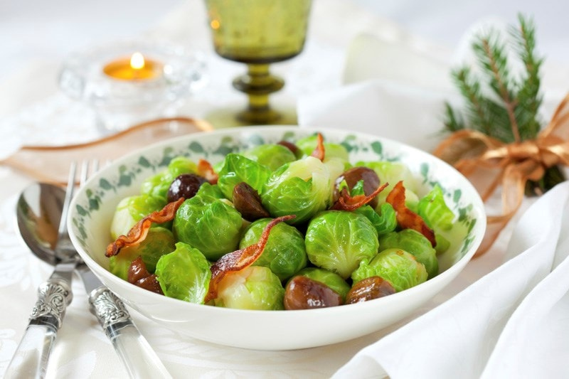 Festive brussels sprouts