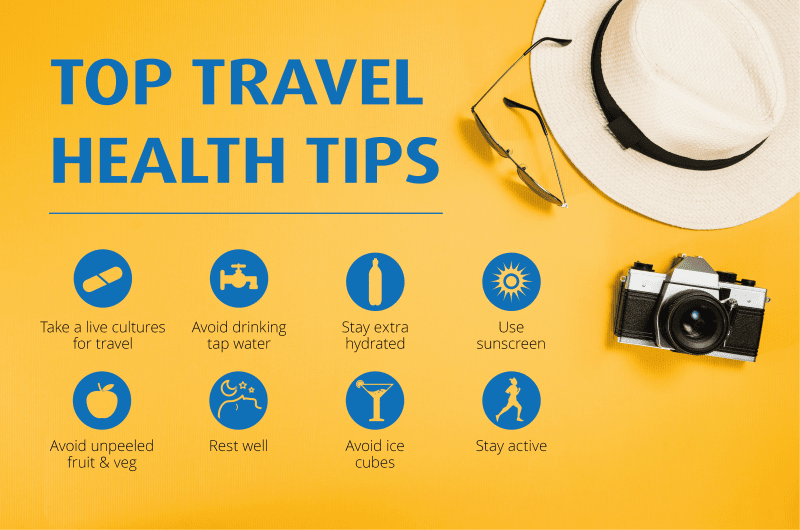 Optibac poster - Top Travel Health Tips