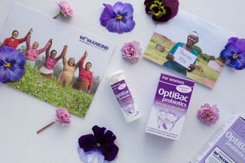 For Womankind charity from Optibac