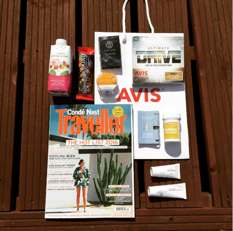 'For travelling abroad' in goodie bag