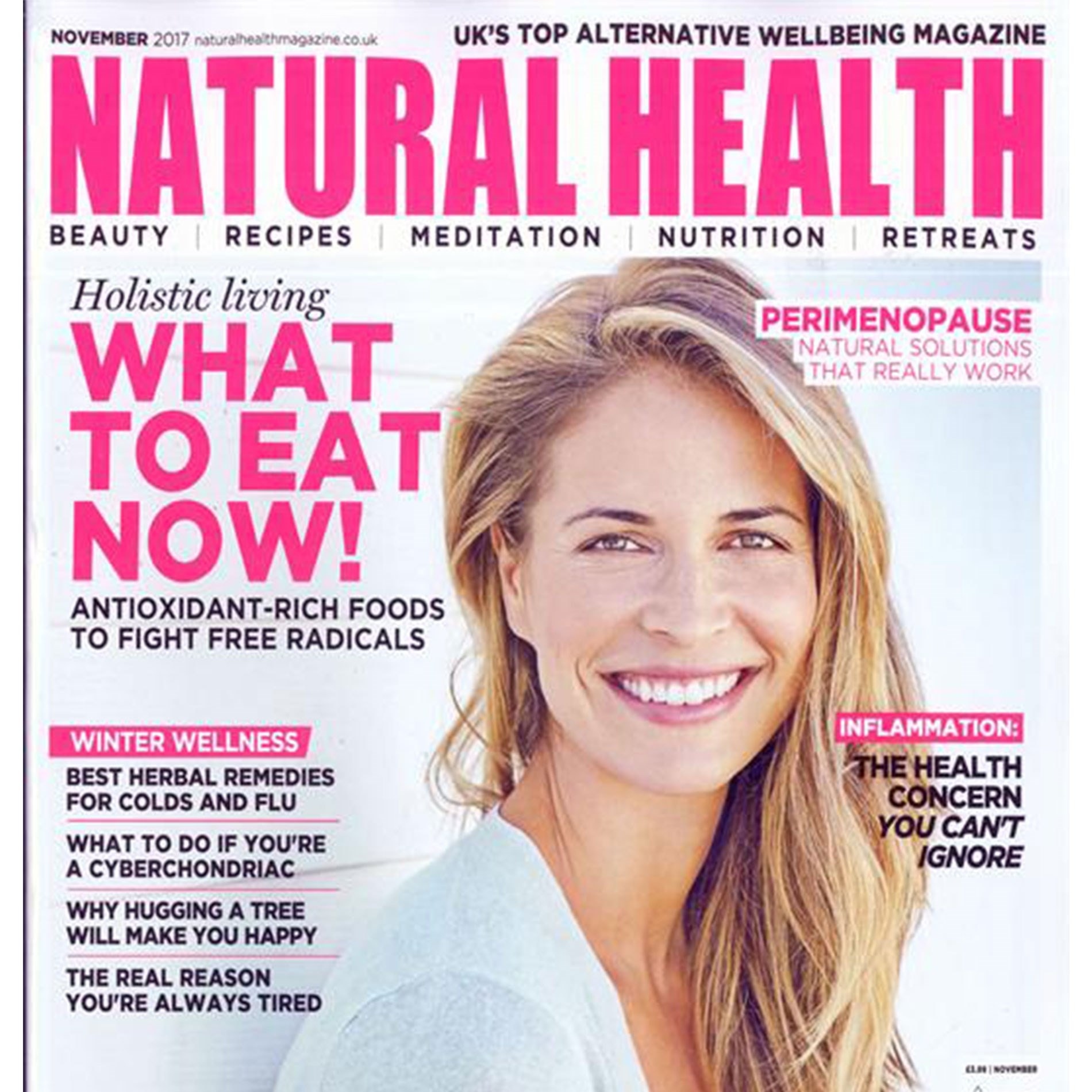 natural health magazine front cover