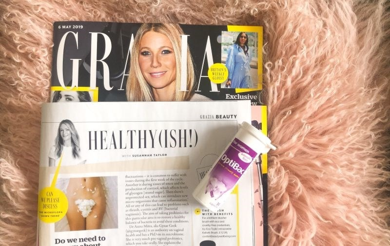 grazia magazine & Optibac 'For women'