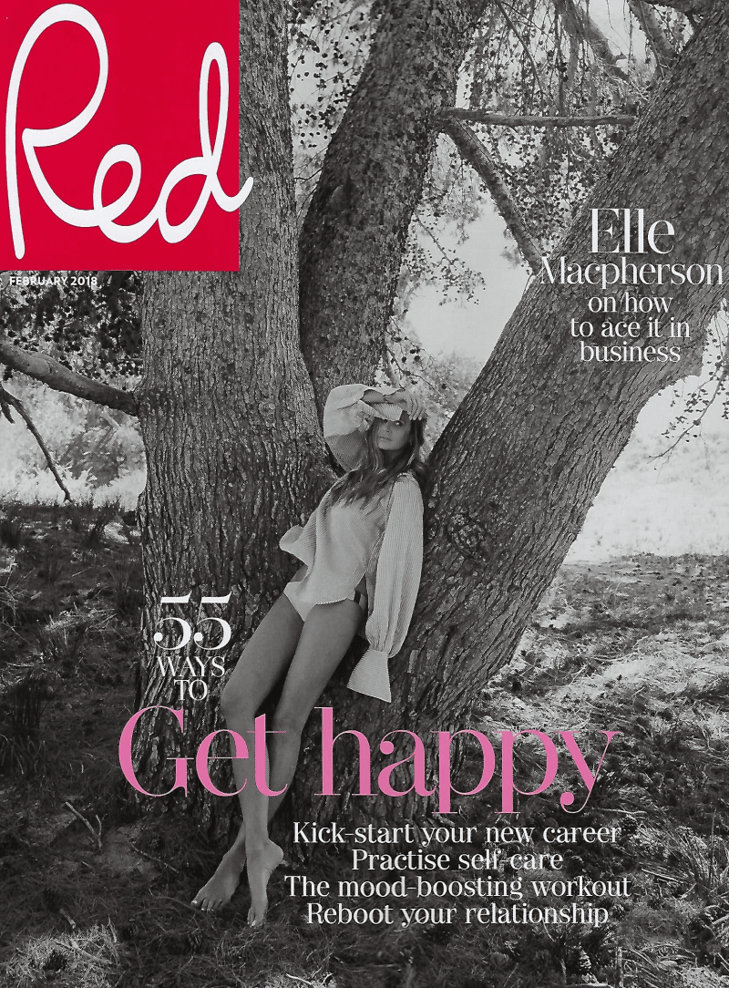 Red magazine front cover