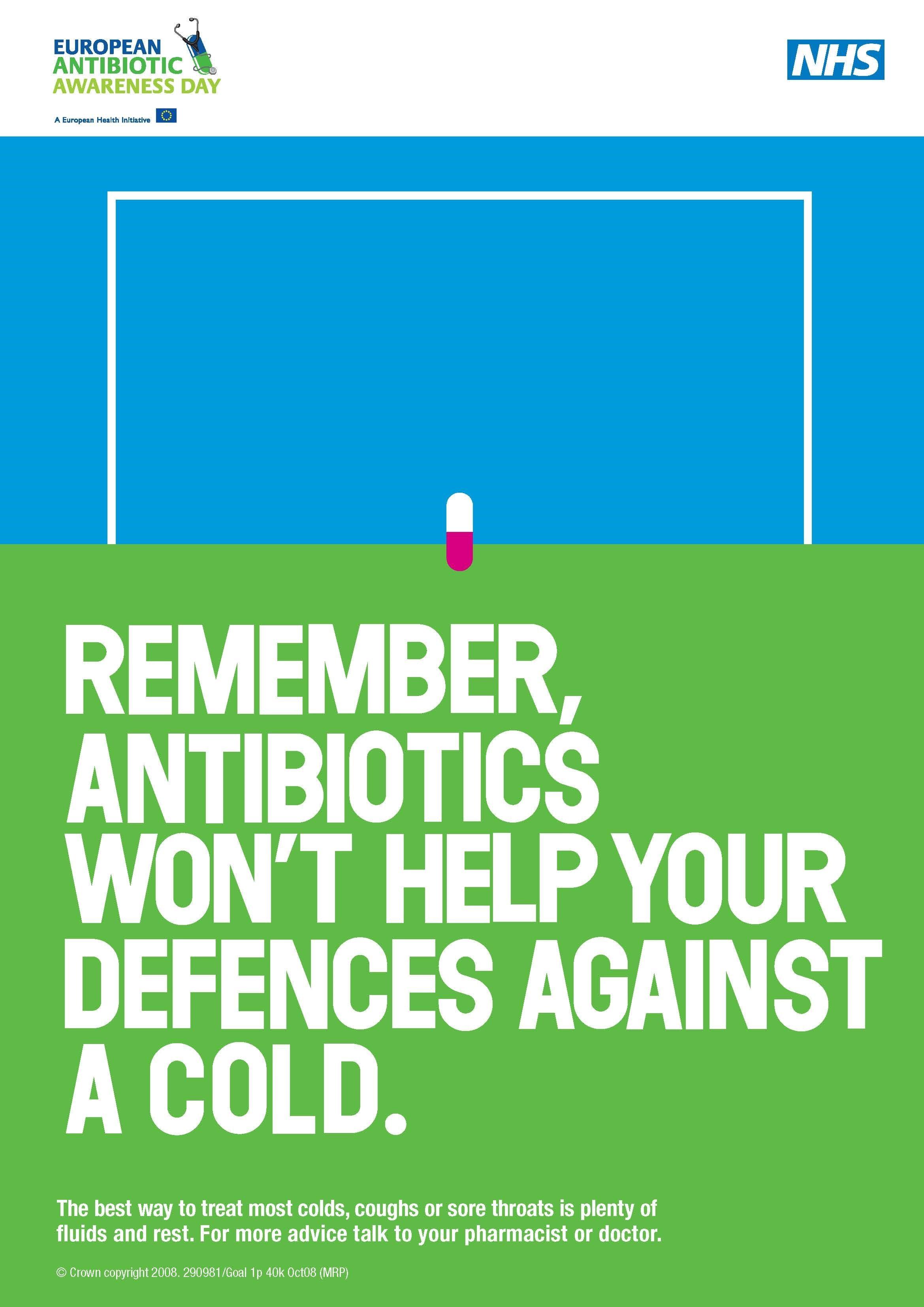 NHS antibiotics campaign