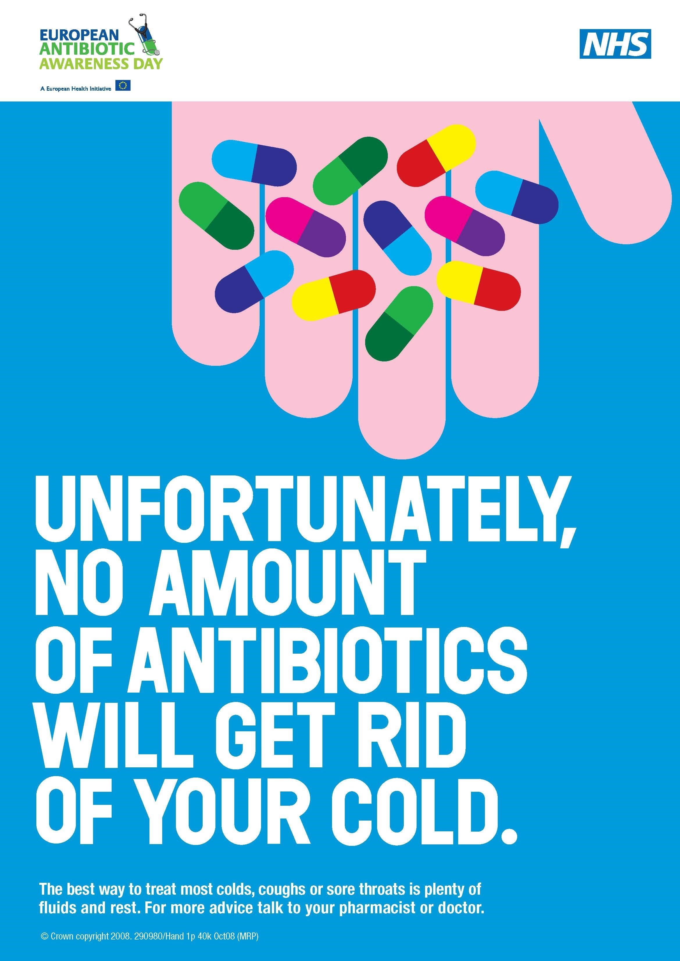 NHS antibiotics poster
