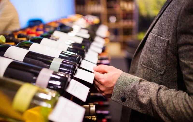 wine in shop