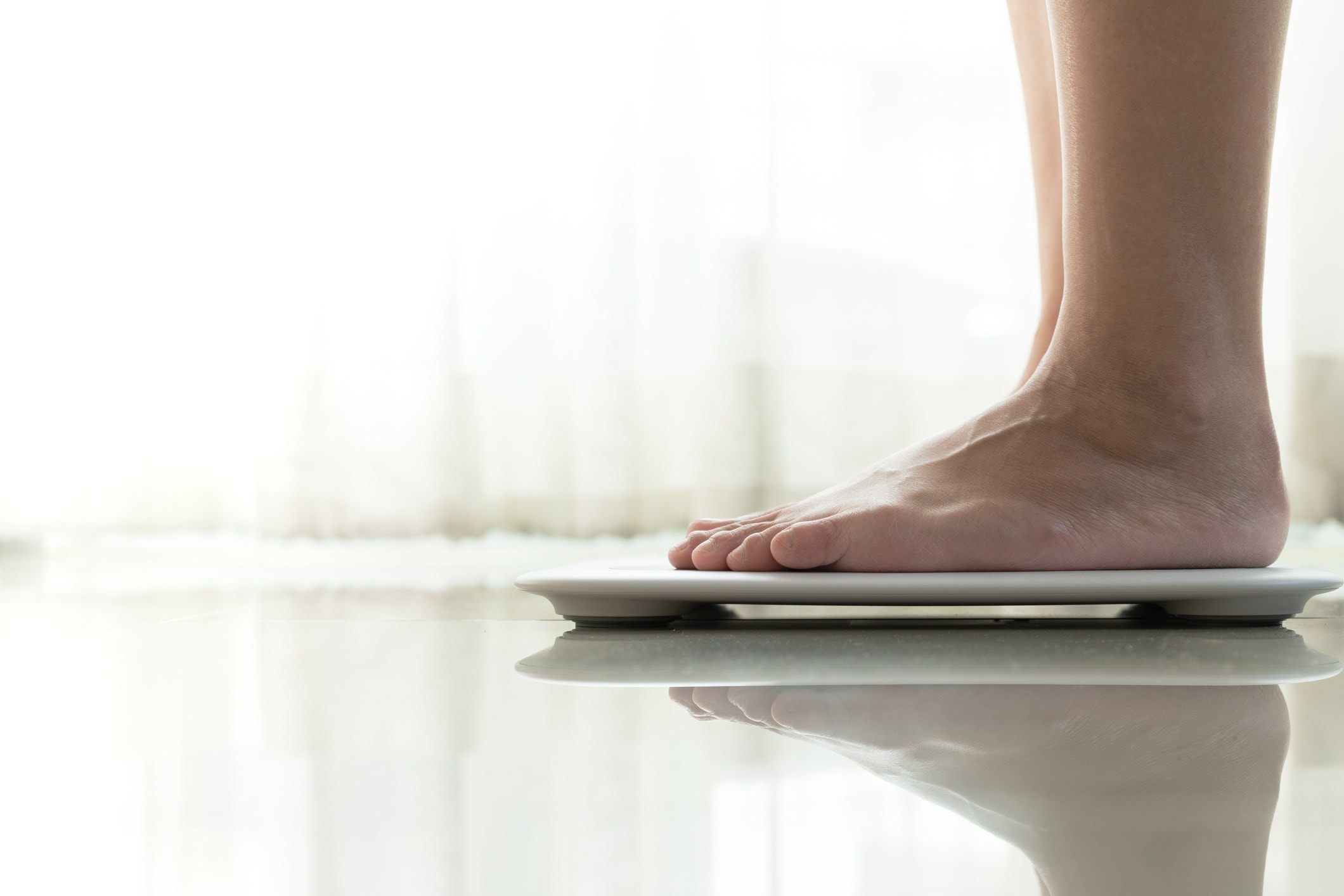 Feet on scales