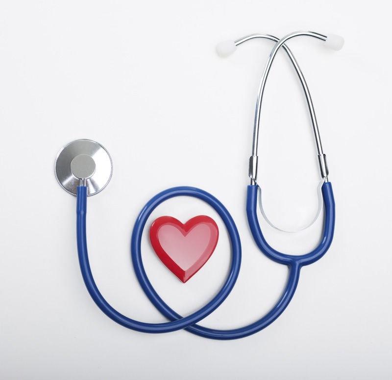doctors stethoscope around a heart shape