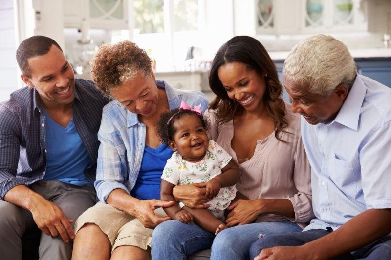 Three generations happy family