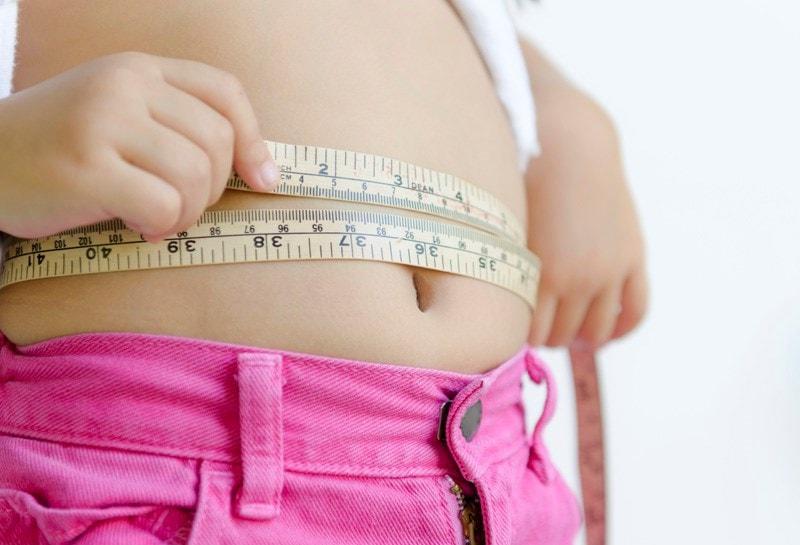 Measuring tape around waist