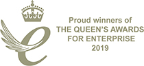 Proud winners of the Queen's award for enterprise 2019