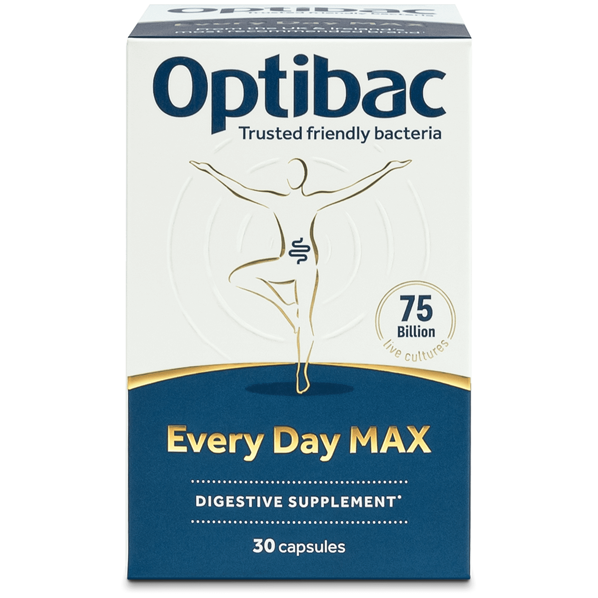 Optibac Probiotics UK | Every Day MAX | front of pack | 30 capsules