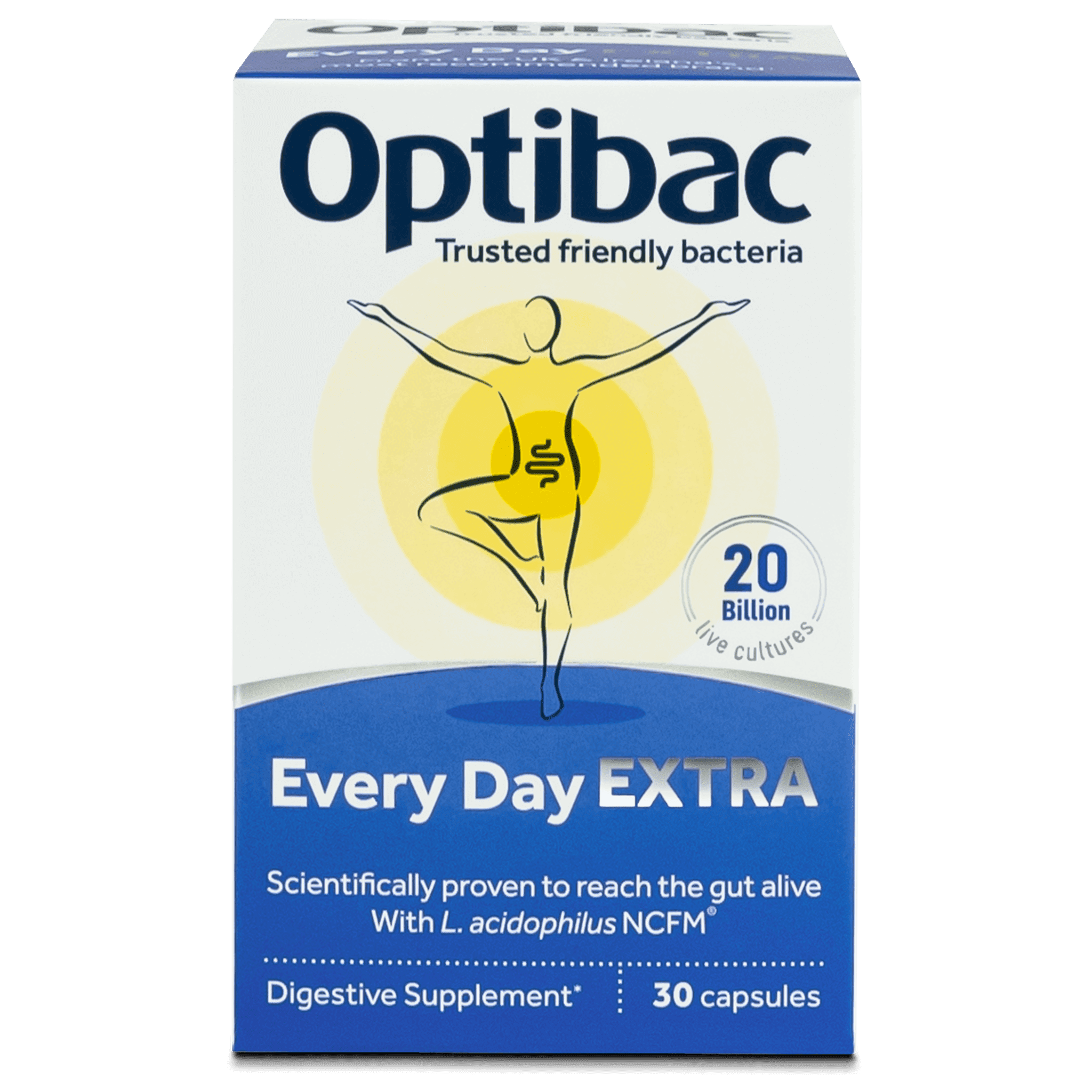 Optibac Probiotics UK | Every Day EXTRA | front of pack | 30 capsules