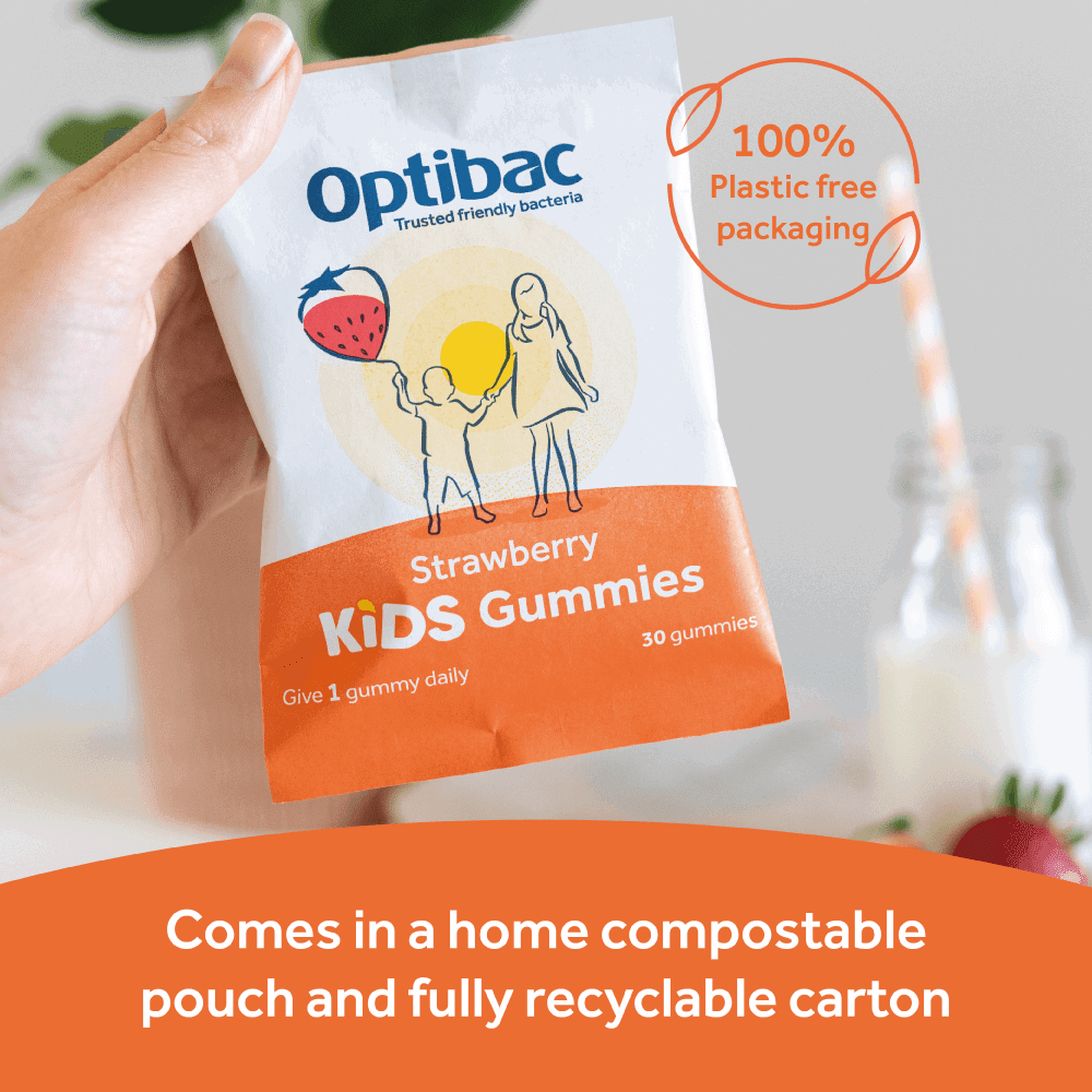 Optibac Probiotics Kids Gummies - compostable pouch