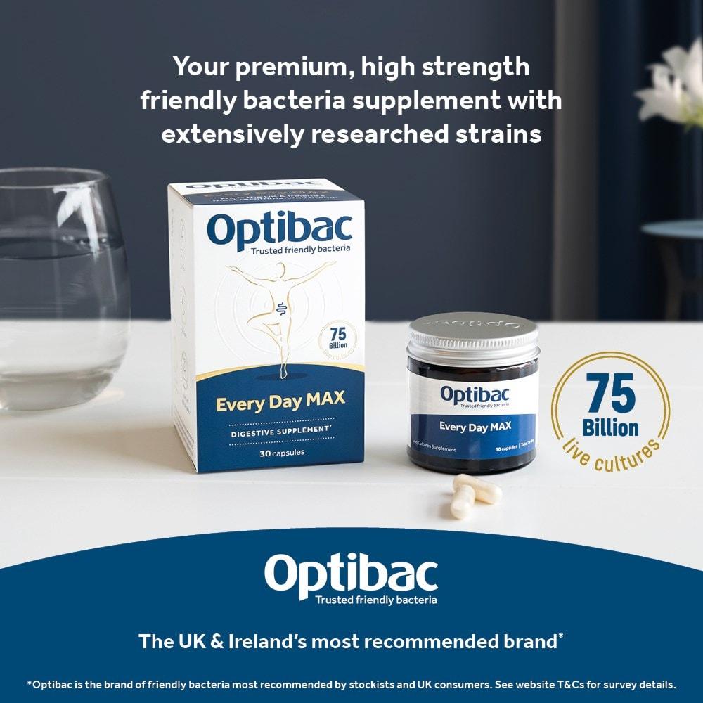 Optibac Probiotics Every Day MAX high strength probiotics