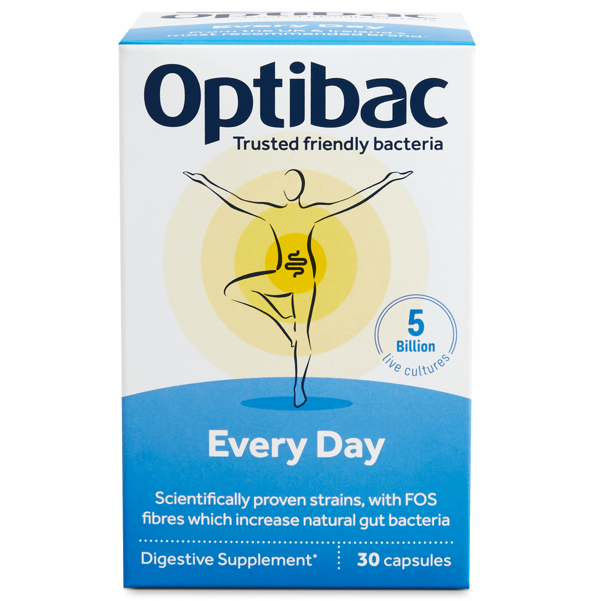 Optibac Probiotics UK | Every Day | front of pack | 30 capsules