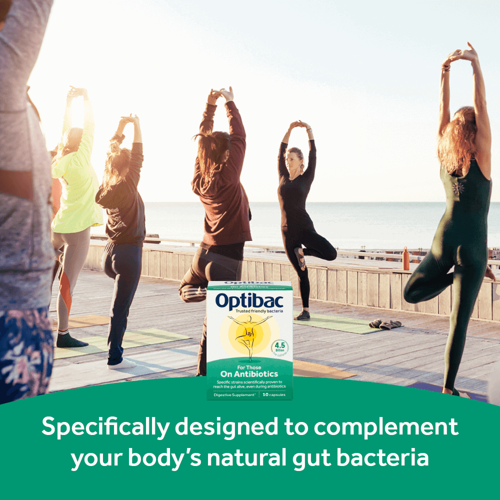 Optibac Probiotics For Those On Antibiotics complements gut flora