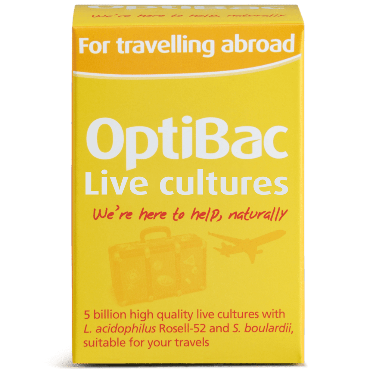 Optibac Probiotics For travelling abroad (20 capsules) pack front