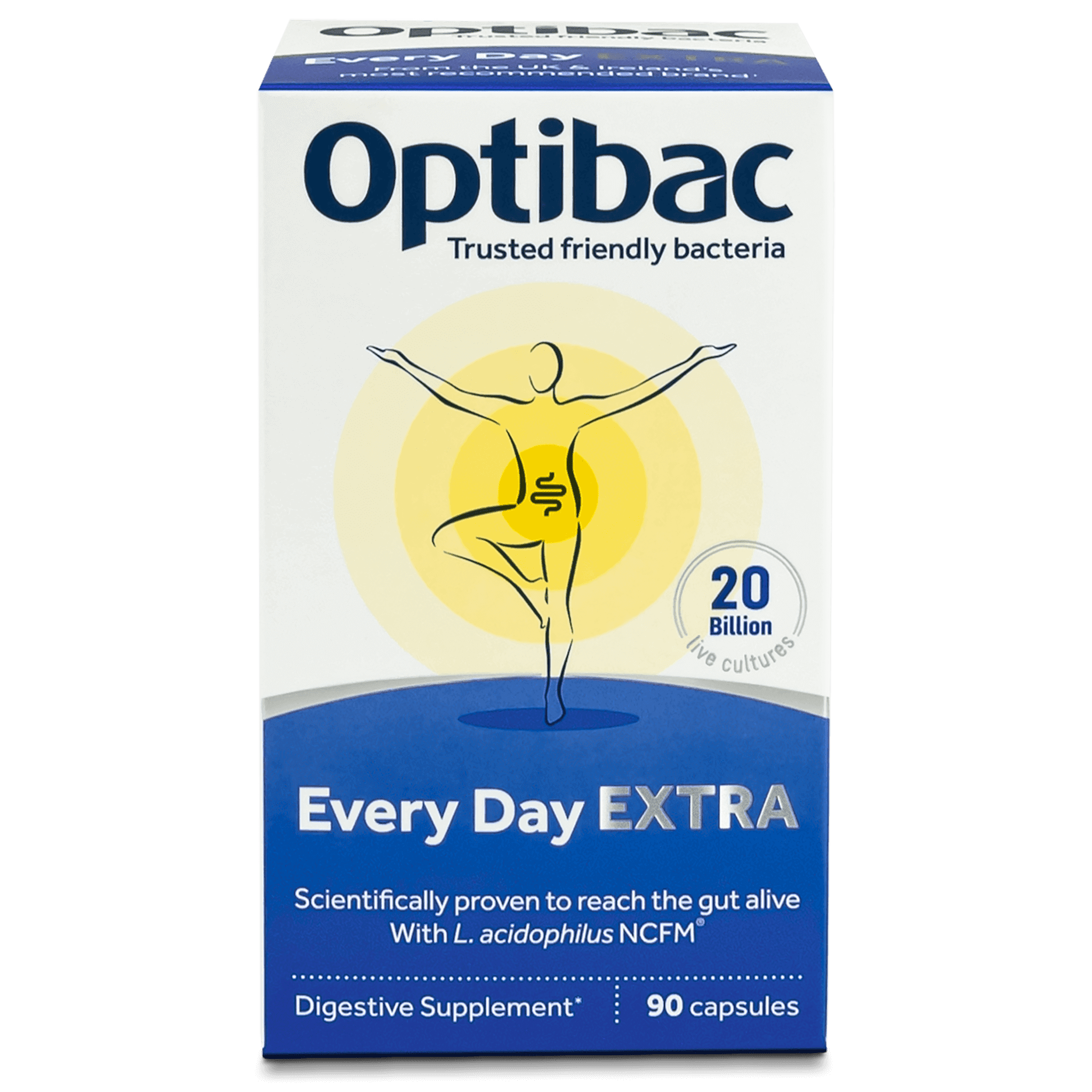 Optibac Probiotics Every Day EXTRA (90 capsules) pack front