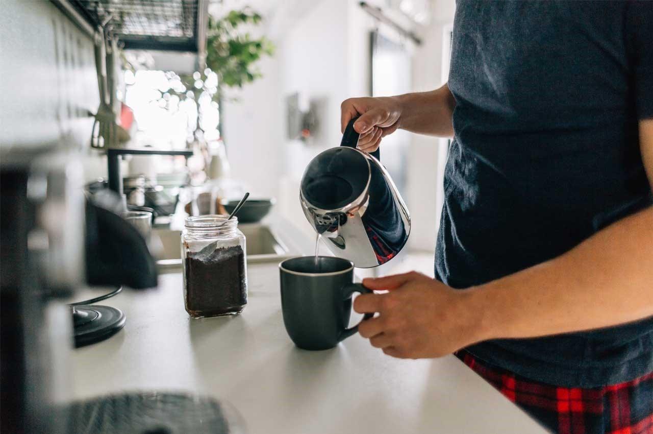 morning coffee and probiotics