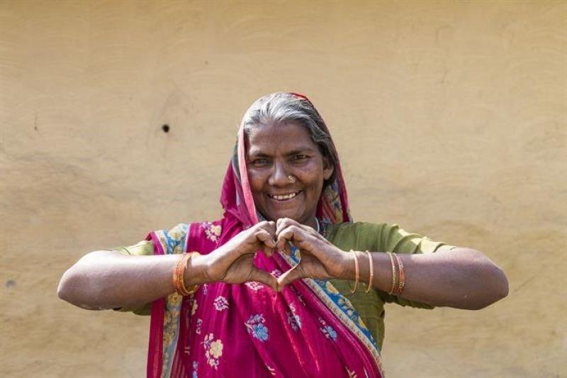 Photo of Mayawati smiling