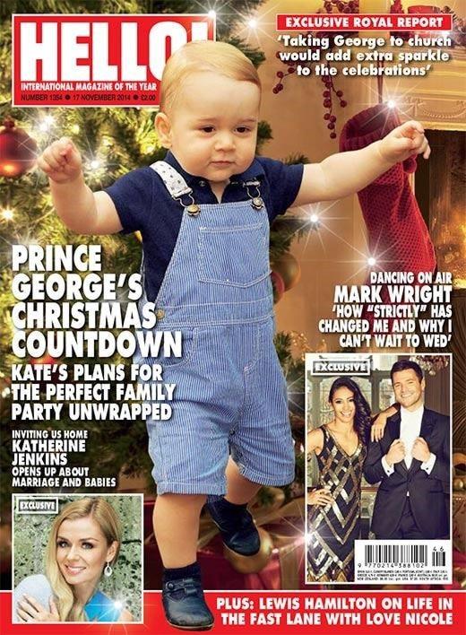 Hello magazine cover page