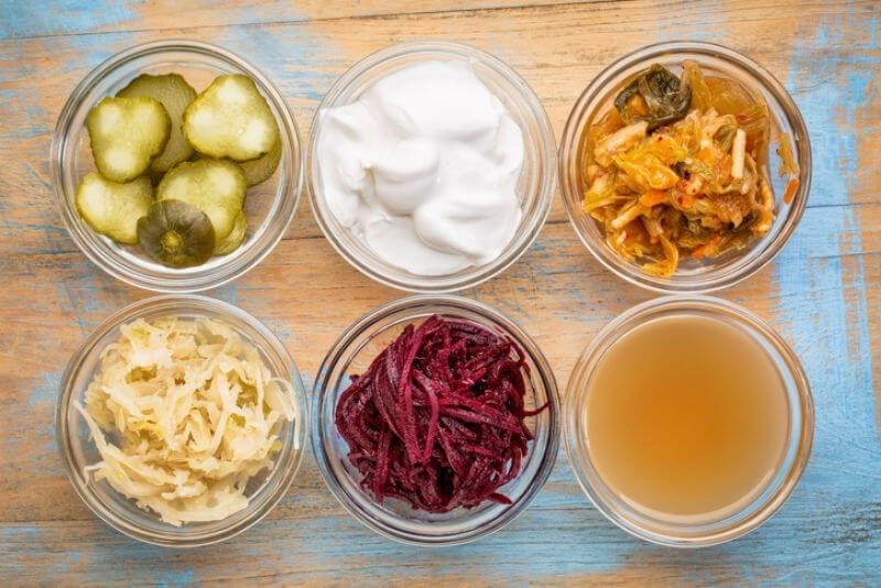 Display of fermented foods
