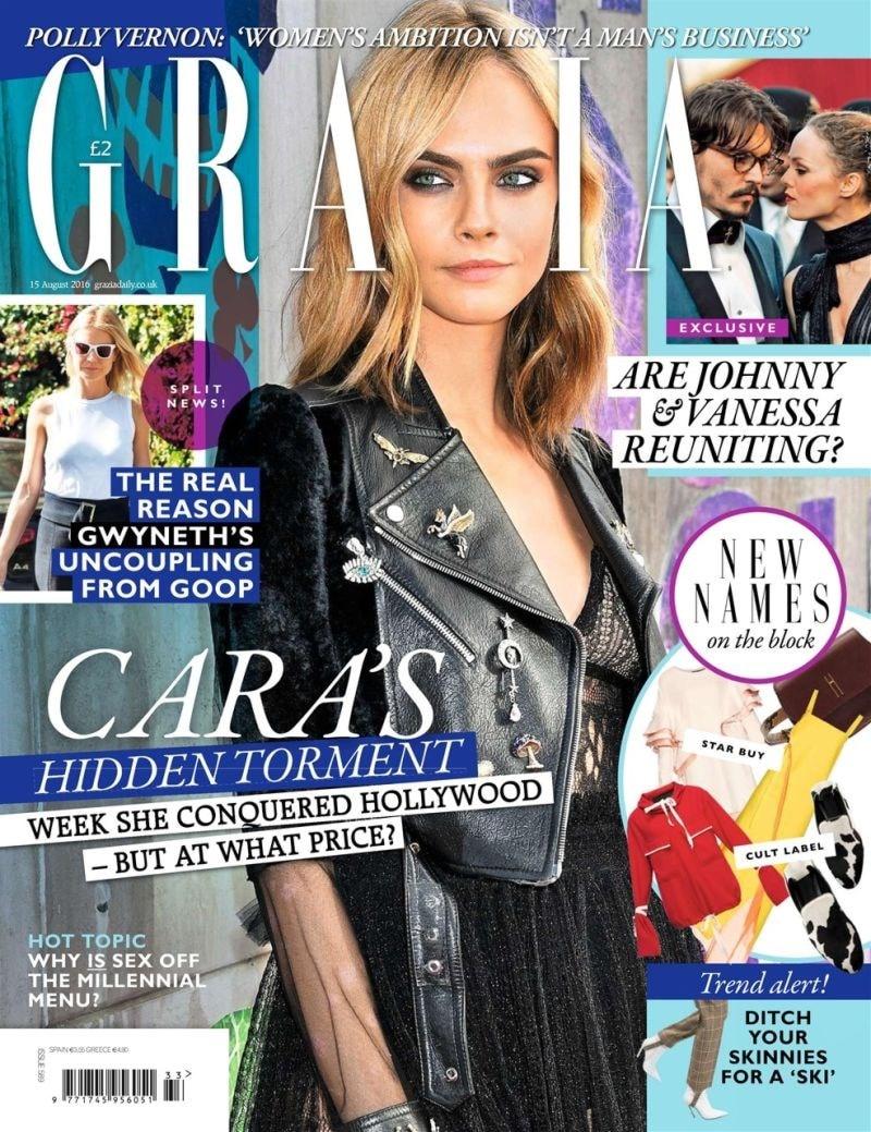 grazia magazine front cover