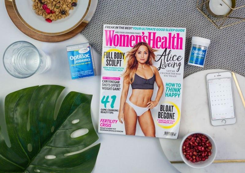 Womens Health magazine and Optibac products