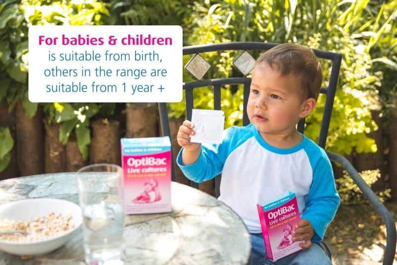 Optibac 'For babies and children' with toddler