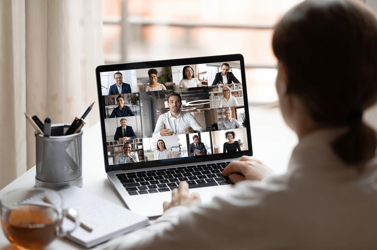 Company video call