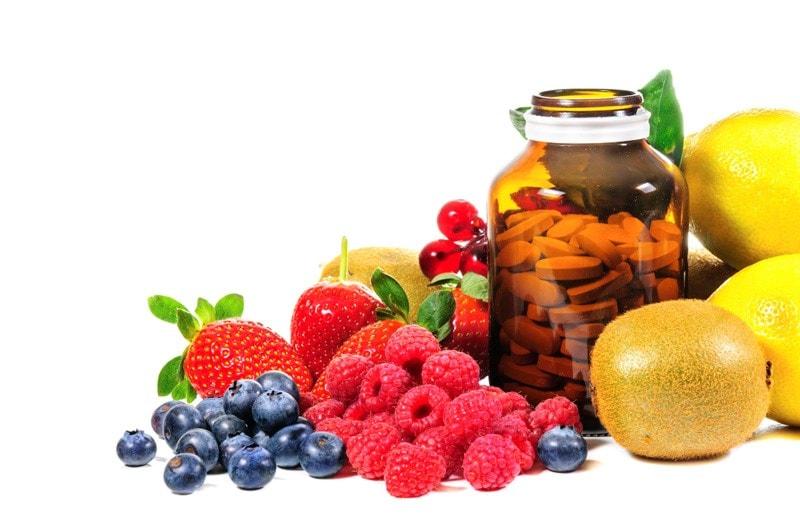 Fresh fruit & supplements