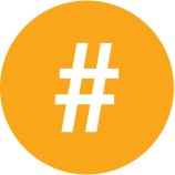 Image of a hashtag