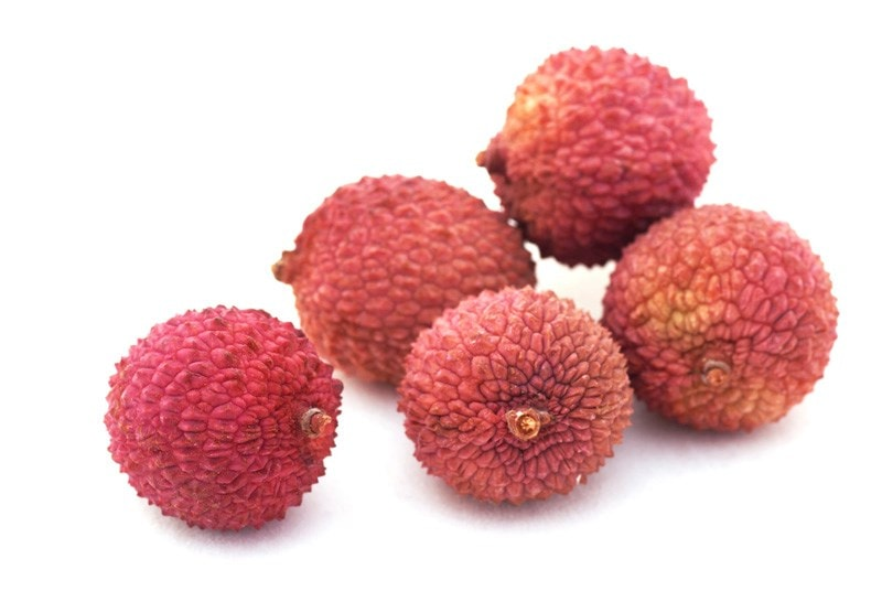 lychee fruits.